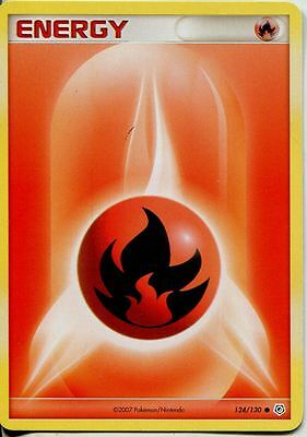 Pokemon Diamond & Pearl Base Common #124/130. Fire Energy