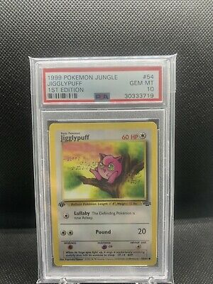 1999 Pokemon Jungle 1st Edition Jigglypuff 1st Edition PSA 10