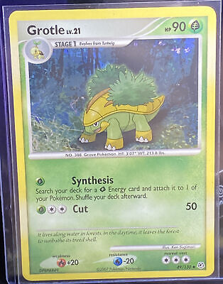 Rare NM 2007 Pokemon💎GROTLE💎BURGER KING PROMO Card 49/130 Diamond & Pearl NEW