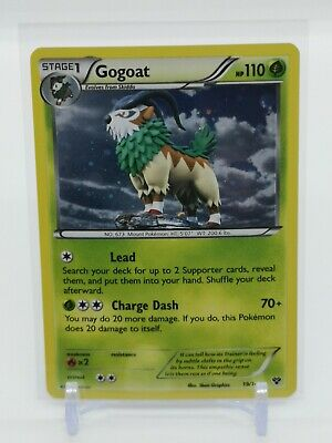 Gogoat HOLO RARE 19/146 - Pokemon XY Base Set - NEAR MINT CONDITION