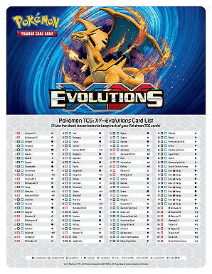 Pokemon Evolutions Singles - Pick what you need! All cards MINT