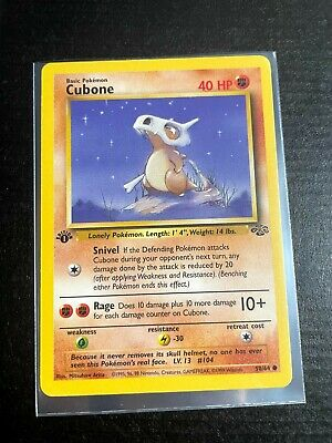 Pokemon CUBONE 1st Edition Jungle 1999 English Card #50/64