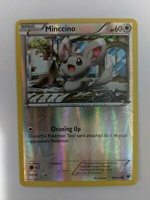 Pokemon Card Minccino 86/124 Fates Collide Reverse Holo NM