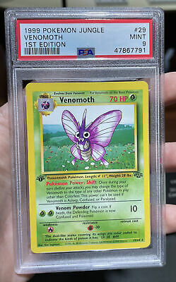 Venomoth 1st Edition Jungle Mint 9 PSA Pokemon #29