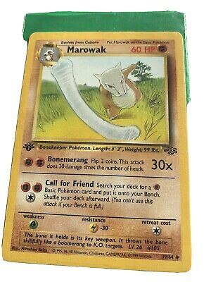 Pokemon Marowak  1st Edition Jungle Mint Condition #39/64