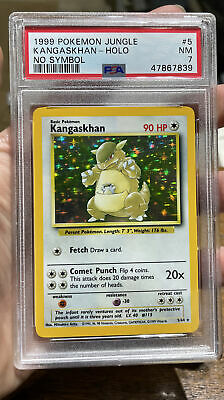 Kangaskhan Holo No Symbol Jungle NM 7 PSA Pokemon #5