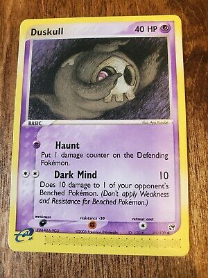 Pokemon Card Ex Sandstorm Duskull 62/100 NM