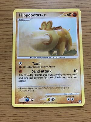 Hippopotas 51/130 - LP - 2007 Diamond & Pearl Pokemon Card