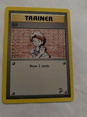 Pokemon Card Bill Trainer 118/130 - Base Set 2