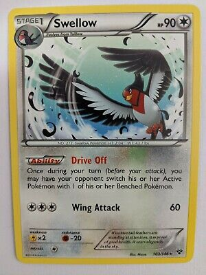 Swellow 103/146 Rare Pokemon Card XY Unleashed NM/ VLP