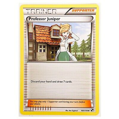 Black and White Pokemon Card: Professor Juniper 101/114
