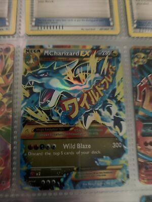 MEGA M CHARIZARD EX 108/111 RARE Pokemon holo flashfire - used