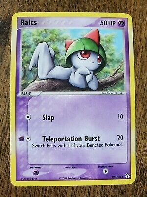 Ralts 2007 Ex Power Keepers Pokemon Card NM/NM+ 59/108
