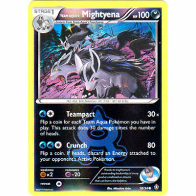 Team Aqua's Mightyena Reverse Parallel Foil POKEMON XY Double Crisis 18/34
