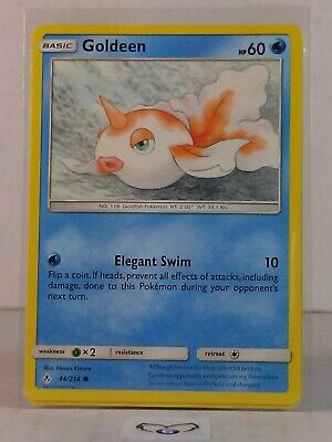 Goldeen  48/214   Sun & Moon: Unbroken Bonds   Common  Mint/NM  Pokemon