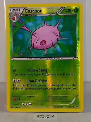 Cascoon  6/108   X&Y: Roaring Skies  Reverse Holo   Mint/NM  Pokemon