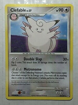 Pokemon Card Diamond & Pearl Rare Clefable 22/130. FREE SHIPPING!