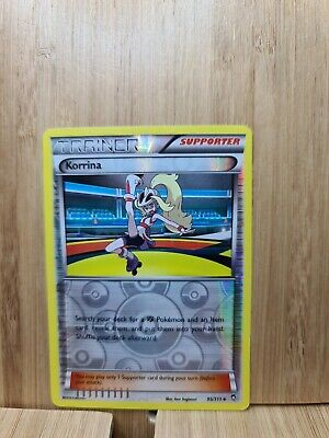 KORRINA🏆TRAINER REVERSE HOLO 95/111 Furious Fists (Genuine) Pokemon Card🏆