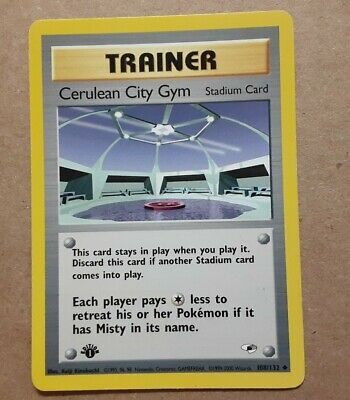 CERULEAN CITY GYM  1st Edition Gym Heroes   108/132  Uncommon  Pokemon WOTC