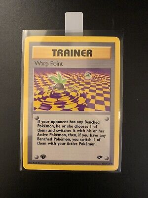 WARP POINT - 126/132 - Gym Challenge - 1st Ed - Pokemon - MINT