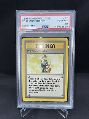 Pokemon TCG 1999 Base Set Trainer Pokémon Trader Card *GEM MINT PSA 10*