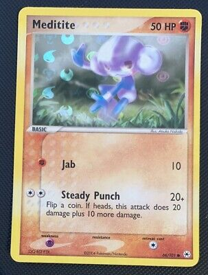 NM Meditite Reverse HOLO 66/101 Hidden Legends Pokemon