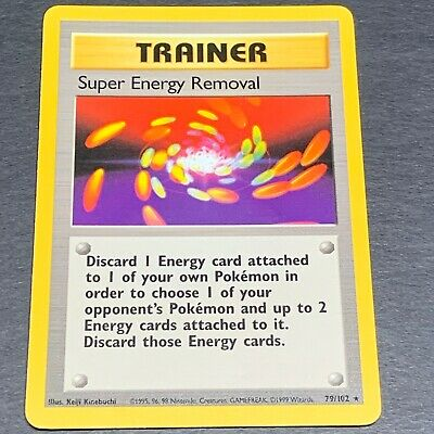 Pokemon Base Set RARE Super Energy Removal 79/102 - Near Mint (NM) Condition