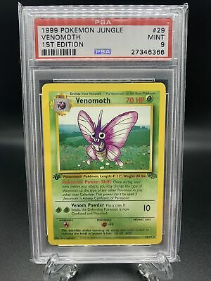 1999 Pokemon Jungle 1st Edition Venomoth #29 PSA 9 Mint