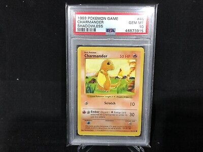 PSA 10 Shadowless Charmander GEM MT Base Set Pokemon 46/102