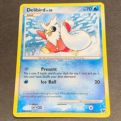 Pokemon D&P Great Encounters Set UN-COMMON Delibird 36/106 - Near Mint (NM)