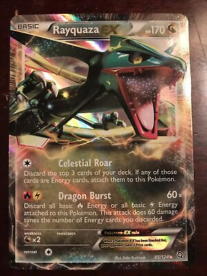Pokemon TCG Cards Rayquaza EX 85/124 Dragons Exalted Ultra Rare Holo NM-M