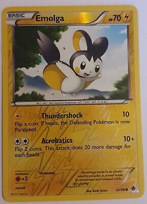 Emolga 32/98 - Reverse Holo - Emerging Powers  - LP - Pokemon Card 2011