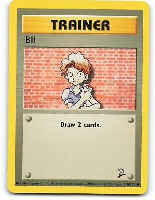118/130 | Bill | Base Set 2 | Pokemon Card | Mint