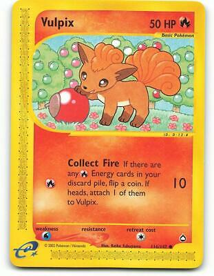 116/147 | Vulpix | Aquapolis | Pokemon Card | NM - Mint