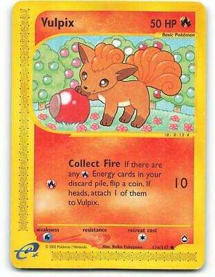 116/147 | Vulpix | Aquapolis | Pokemon Card | Excellent
