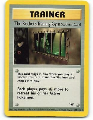 104/132   The Rocket's Training Gym   Gym Heroes   Pokemon Card   NM - Mint