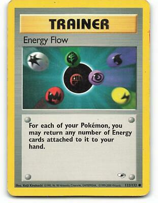 122/132 | Energy Flow | Gym Heroes | Pokemon Card | Played