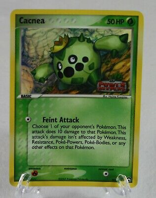 2007 Cacnea 46/108 EX Power Keepers Stamped Holo Pokemon Card vintage rare