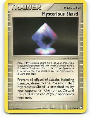 81/100   Mysterious Shard   EX Crystal Guardians   Pokemon Card   NM - Mint