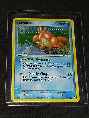 Pokemon- Corphish-57/107- Ex Deoxys Stamped- Rare- Holo- NM-Plus with Tracking!!