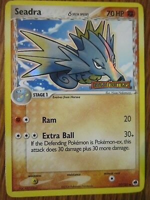 Seadra Holo Pokemon Card 37/101 Ex Dragon Frontiers Stamped Lightly Played Ex+
