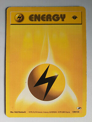 Pokemon    Lightning Energy    130/132    Gym Heroes    Common    FIRST EDITION