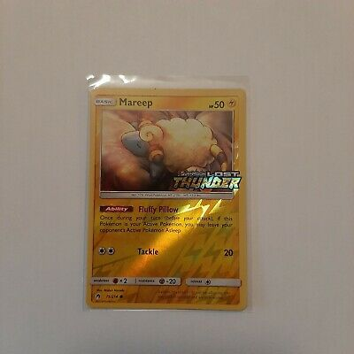 Pokemon Card - 75/214 Mareep - Lost Thunder - NM/M Holo - Toy's R Us Stamped