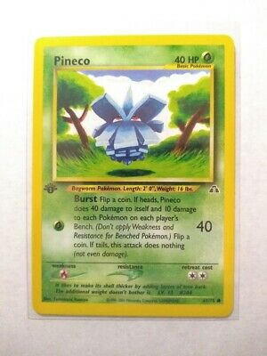 PINECO 61/75 - First Edition - Neo Discovery 2001 - Pokemon TCG - NM+