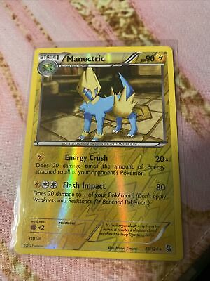 Manectric 43/124 Dragons Exalted Reverse Holo Rare Light Play Pokemon DNA GAMES