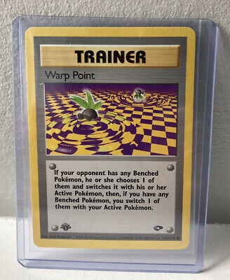 Warp Point 1st Edition Gym Challenge 126/132 NM WOTC Pokemon Card