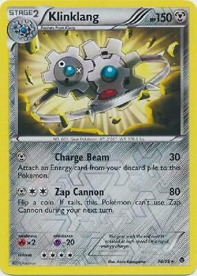 Klinklang - 76/98 - Rare Reverse Foil new Emerging Powers Pokemon 2B3