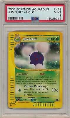 PSA 9 Pokemon Aquapolis Holo Rare Jumpluff H13/H32 MINT Condition!!