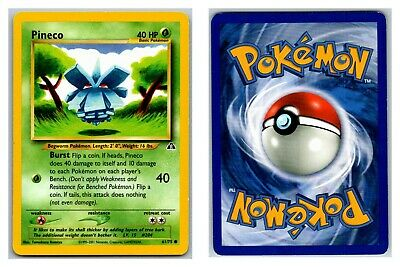 Pineco 61/75 Neo Discovery Pokemon Card Exc-LP Condition *