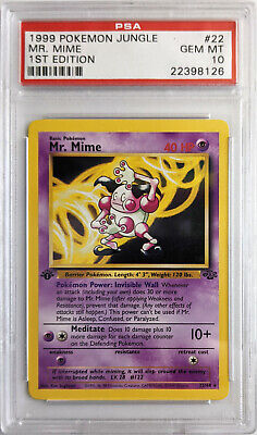 1999 Pokemon Jungle 1st Edition Mr. Mime #22 PSA 10 GEM MINT
